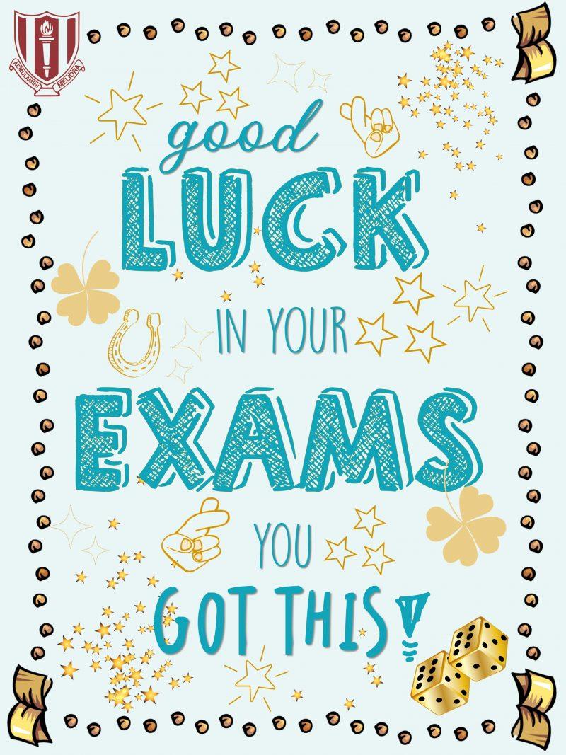 Examination week is here!